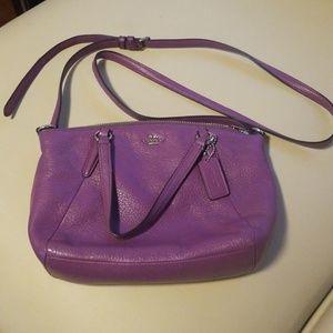 Coach Leather Lilac crossbody handbag